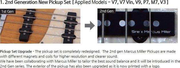 Sire Marcus Miller V7 Vintage Alder-4 Lefty Black 2nd Gen