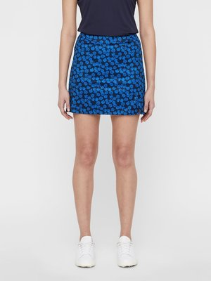 J.Lindeberg Amelie Long Flower Print Womens Skirt Pop Blue Flower M