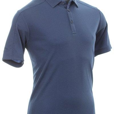 Callaway New Box Jacquard Mens Polo Shirt Medieval Blue L