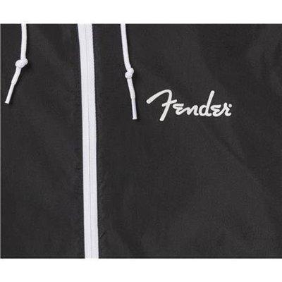 Fender Spaghetti Logo Windbreaker Black L
