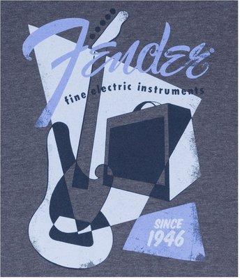 Fender Vintage Geo 1946 T-Shirt Blue XL