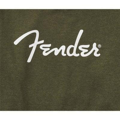 Fender Spaghetti Logo Pullover Army Green L