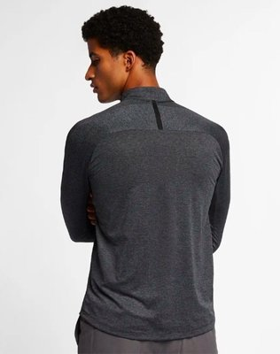 Nike Dry Knit Statement 1/2 Zip Mens Sweater Black/Dark Grey S