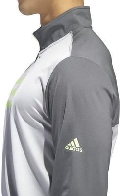 Adidas 3-Stripes Competition 1/4 Zip Mens Sweater Grey Five/Grey Two L