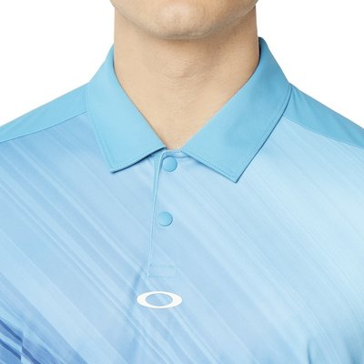 Oakley Exploded Ellipse Herren Poloshirt Stormed Blue L