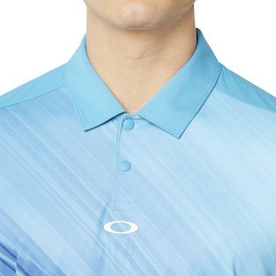 Oakley Exploded Ellipse Herren Poloshirt Stormed Blue XL