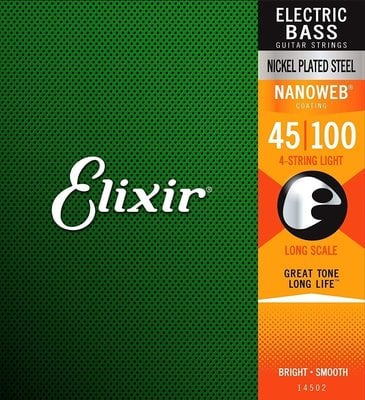 Elixir 14052 Bass NanoWeb Light/Long Scale