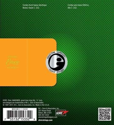 Elixir 15332 Electric Bass NanoWeb Coating .032