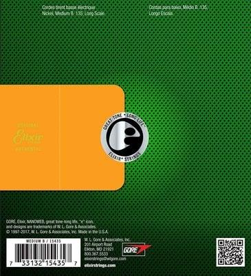Elixir 15435 Electric Bass NanoWeb Coating 135
