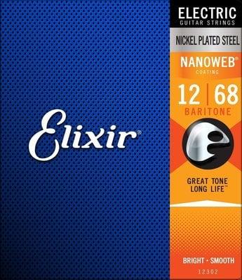 Elixir 12302 NanoWeb Coated Baritone 012-068