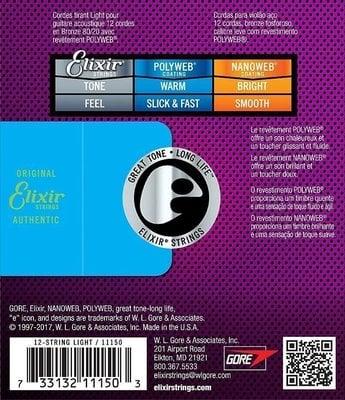 Elixir 11150 Acoustic 12-strings PolyWeb 80/20 Light