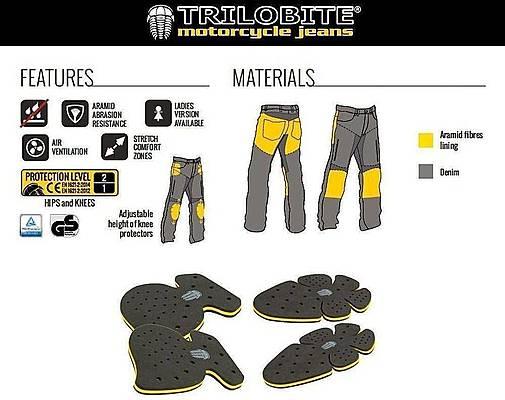 Trilobite 661 Parado TÜV CE 40 Men Jeans Blue Level 1