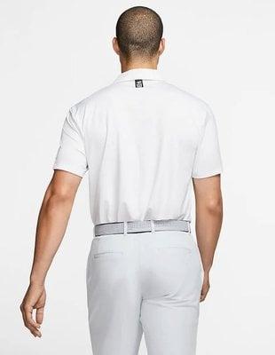 Nike Tiger Woods Vapor Striped Herren Poloshirt White/Pure Platinum M