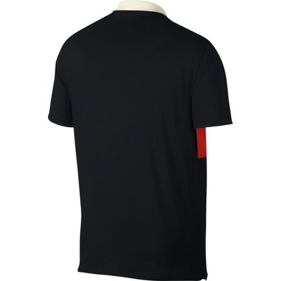 Nike Dri-FIT Vapor Colourblock Herren Poloshirt Sail/Habanero Red L