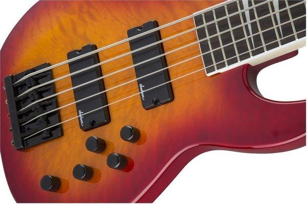 Jackson JS Series Concert Bass JS3VQ IL Transparent Cherry Burst