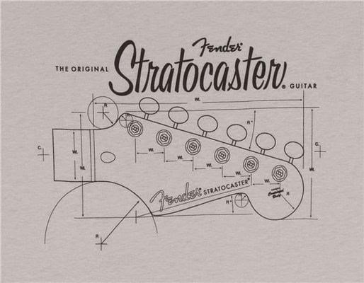 Fender Strat Blue Print T-Shirt Silver XL