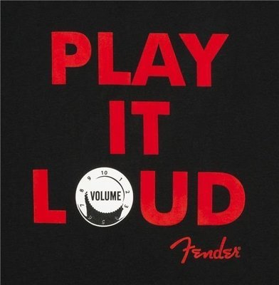 Fender Play It Loud T-Shirt Black L
