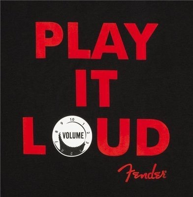 Fender Play It Loud Hoodie Black S