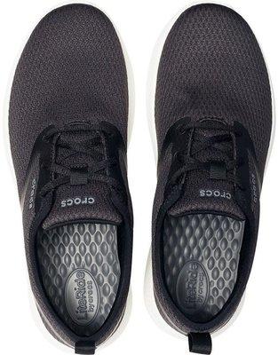 Crocs Men's LiteRide Mesh Lace Black/White 10