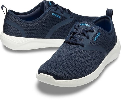 Crocs Men's LiteRide Mesh Lace Navy/White 9