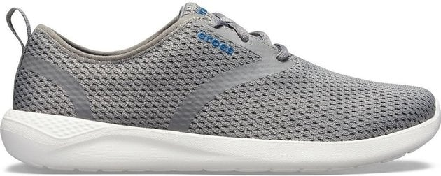 Crocs Men's LiteRide Mesh Lace Smoke/White 8