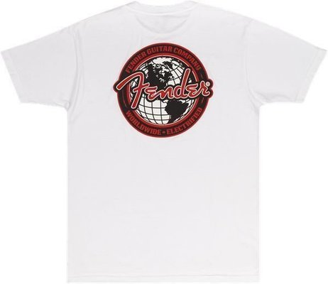 Fender Spaghetti Logo Globe T-Shirt M