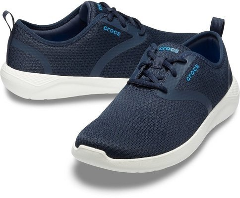 Crocs Men's LiteRide Mesh Lace Navy/White 10