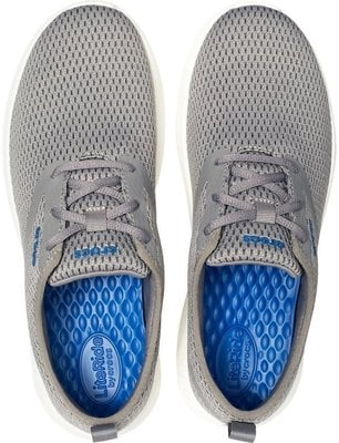 Crocs Men's LiteRide Mesh Lace Smoke/White 9