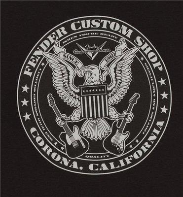 Fender Custom Shop Eagle T-Shirt Black L
