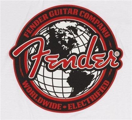 Fender Spaghetti Logo Globe T-Shirt S