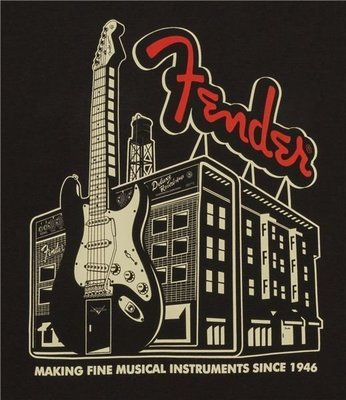 Fender Amp Building T-Shirt Coal M