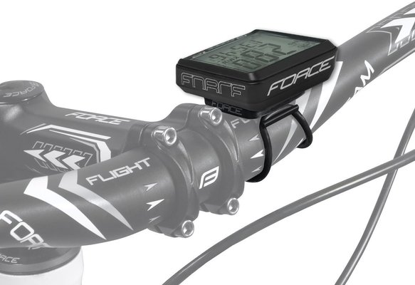 Force WLS Bike Computer 12 Functions Wireless Black