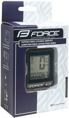 Force Bike Computer 10 Functions Wired Black