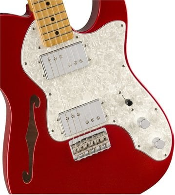 Fender Vintera 70s Telecaster Thinline MN Candy Apple Red