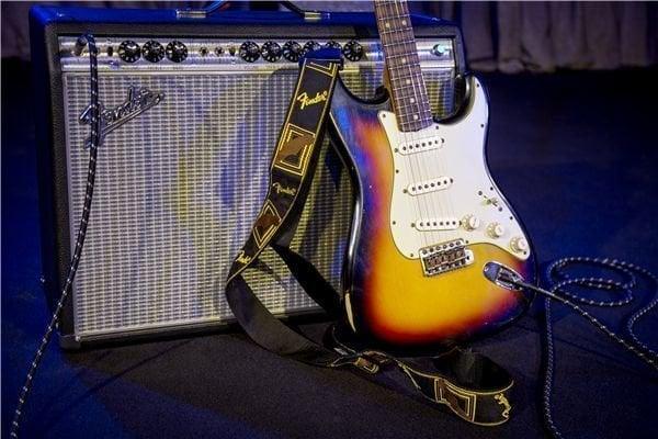 Fender 2'' Monogrammed Strap Black/Yellow/Brown