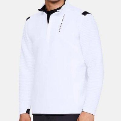 Under Armour Storm Daytona 1/2 Zip Mens Sweater White M