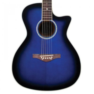 Daisy Rock Wildwood Artist Electro Acoustic Royal Blue Burst
