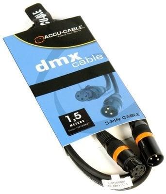 ADJ AC-DMX3/1,5 3 p. XLRm/3 p. XLRf 1,5m DMX