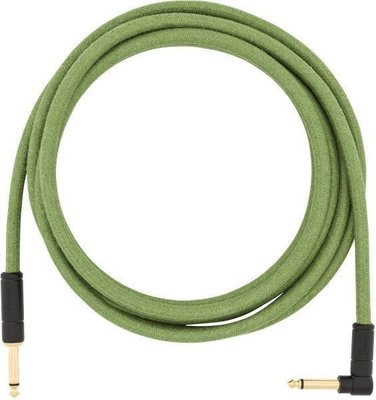 Fender Festival Series 10' Angled Cable Pure Hemp Green