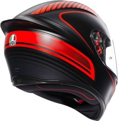 AGV K1 Multi Warmup Matt Black/Red S