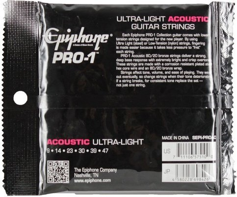Epiphone Pro-1 Ultra-Light Acoustic Strings