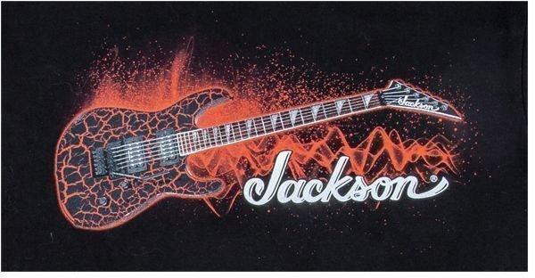Jackson Red Crackle Tee Black M