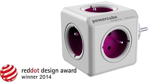 PowerCube ReWirable + Travel Plugs + IEC Purple