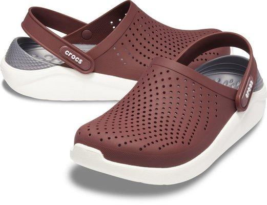 Crocs Lite Ride Clog Unisex Burgundy/White 37-38