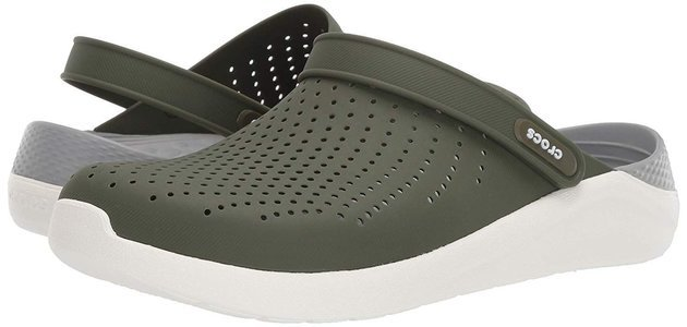 Crocs Lite Ride Clog Unisex Army Green/White 43-44