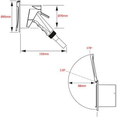 Nuova Rade Case with Chrome Shower Spray, 3m Hose, with Lid Chrome