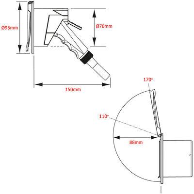 Nuova Rade Shower Case + Hose 3m