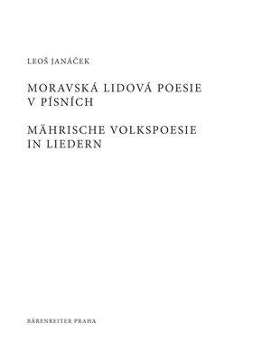 Leoš Janáček Moravská lidová poezie v písních