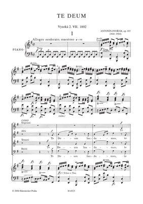 Antonín Dvořák Te Deum op. 103
