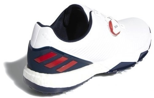 Adidas Adipower 4Orged Boa Mens Golf Shoes Cloud White/Collegiate Red/Collegiate Navy UK 10,5
